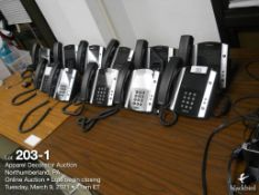 Lot of Approximately (25) phones in building, Verizon and Polycom