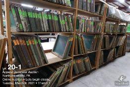 (127) 20 x 10 wood screens and (117) 17 x 17 wood screens
