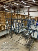 Ballymore 6 step with top platform portable rolling shop ladder