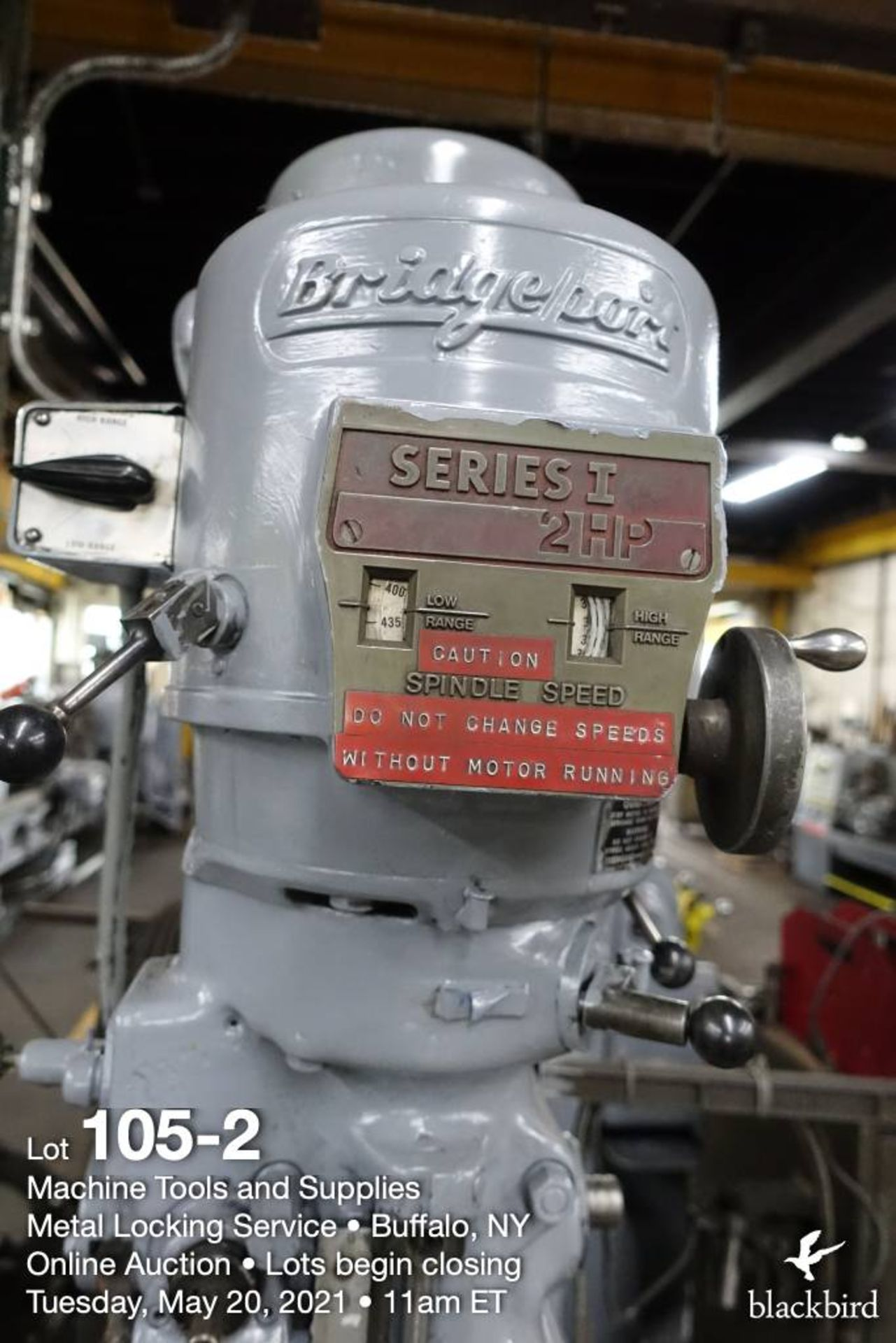 Bridgeport series I vertical milling machine - Image 3 of 6