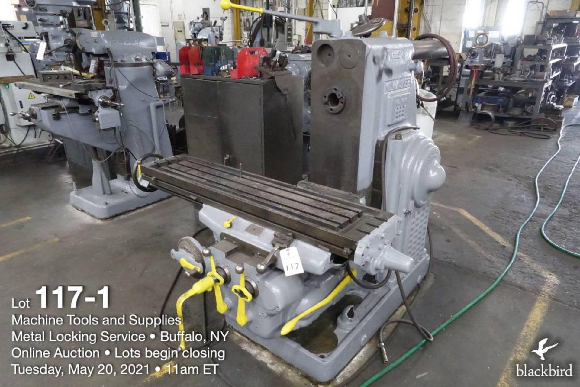Milwaukee K #2 horizontal milling machine - Image 2 of 5