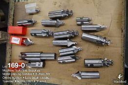 Lot of cutting tools and bits as photographed