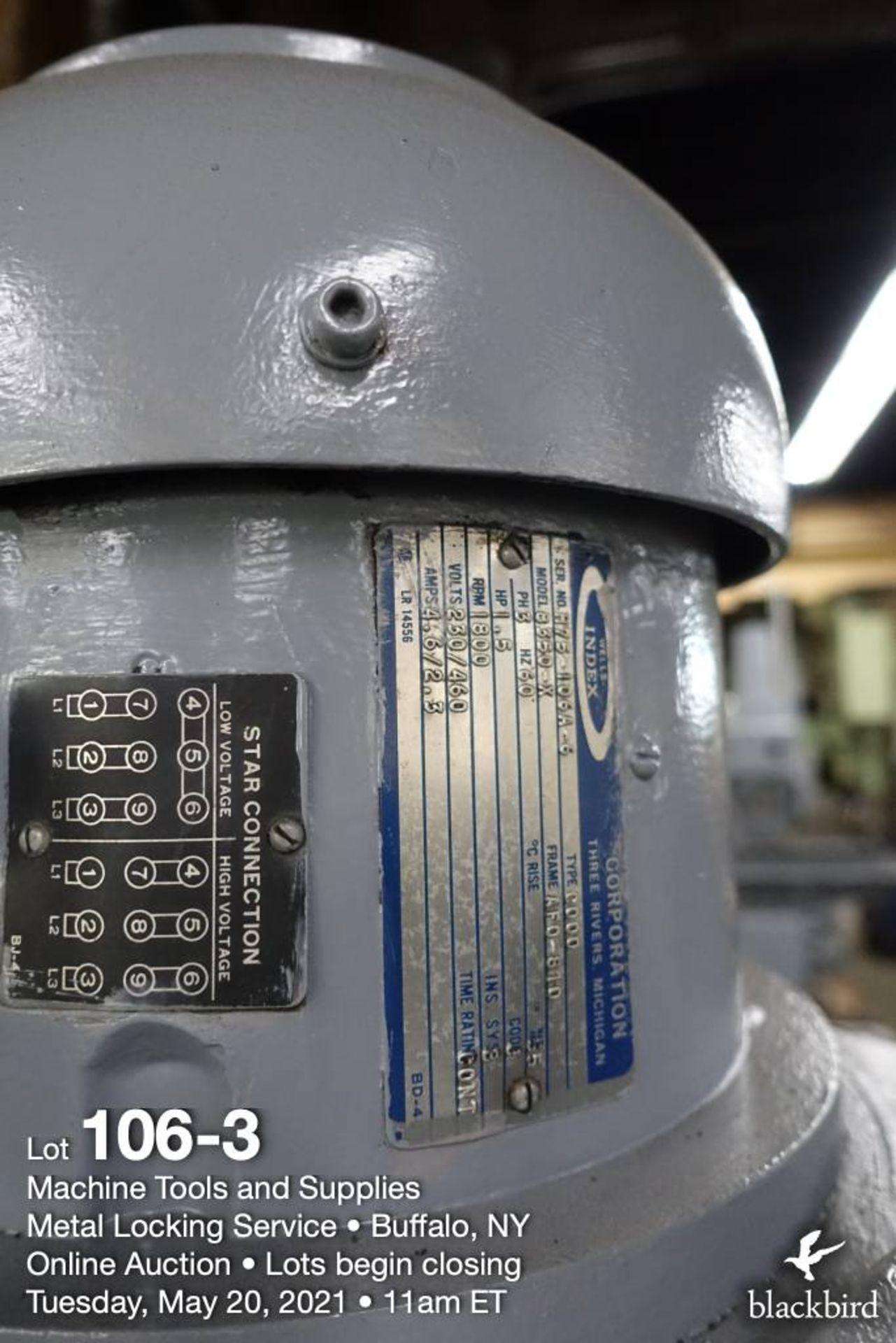 Wells Index 747 vertical milling machine, 1.5 HP - Image 4 of 5