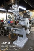 Wells Index 747 vertical milling machine, 1.5 HP
