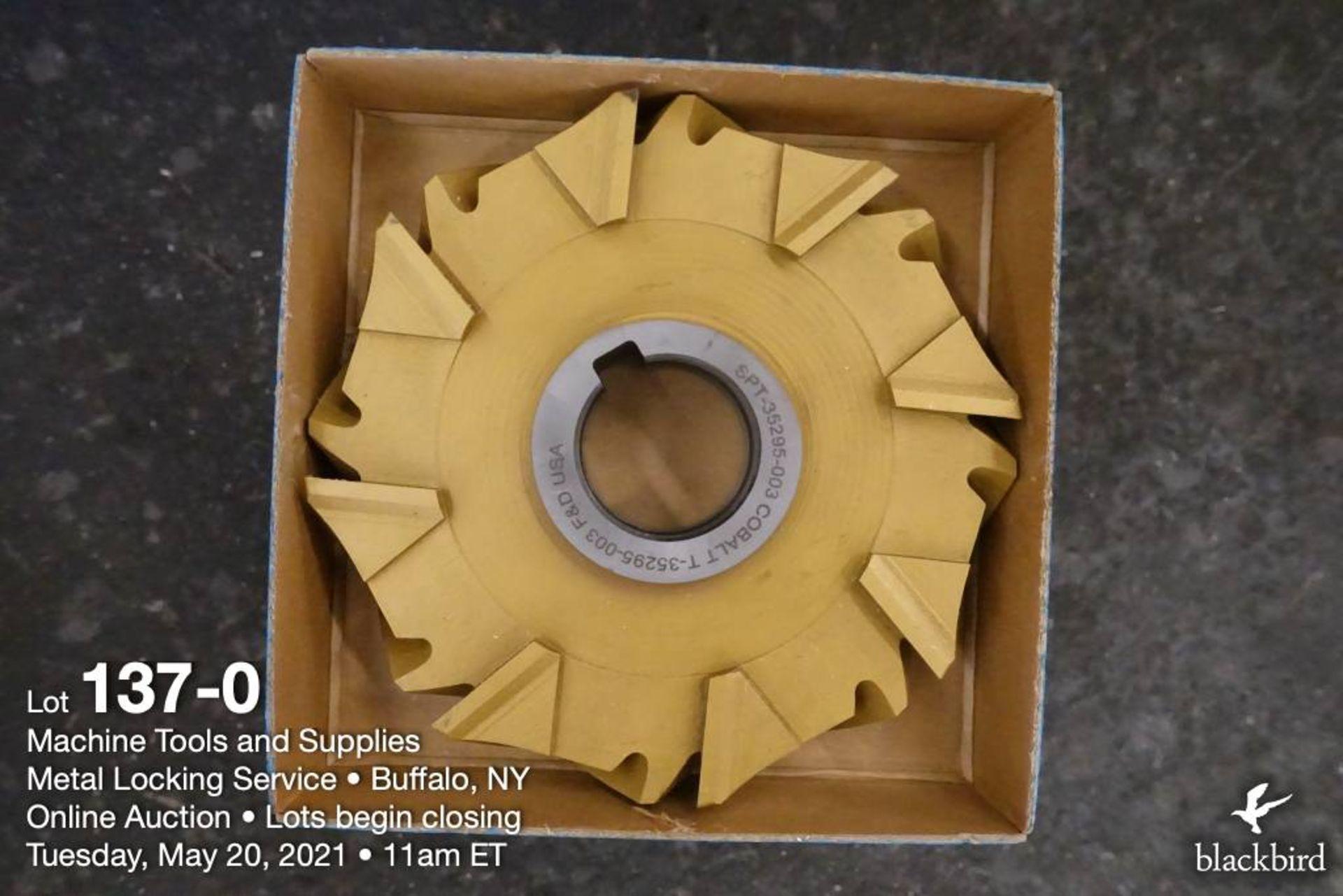F&D cobalt milling cutter, tin coated