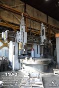 """Betts double-column boring mill, 96"""" rotary table"""
