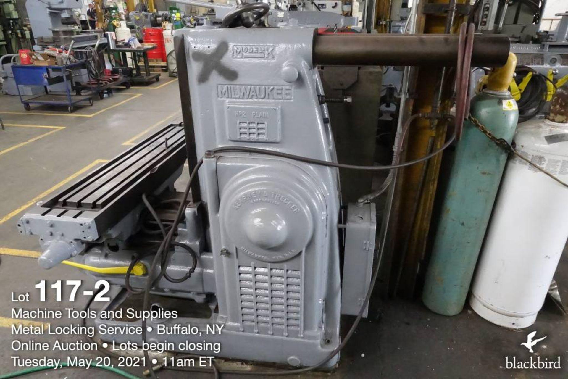 Milwaukee K #2 horizontal milling machine - Image 3 of 5