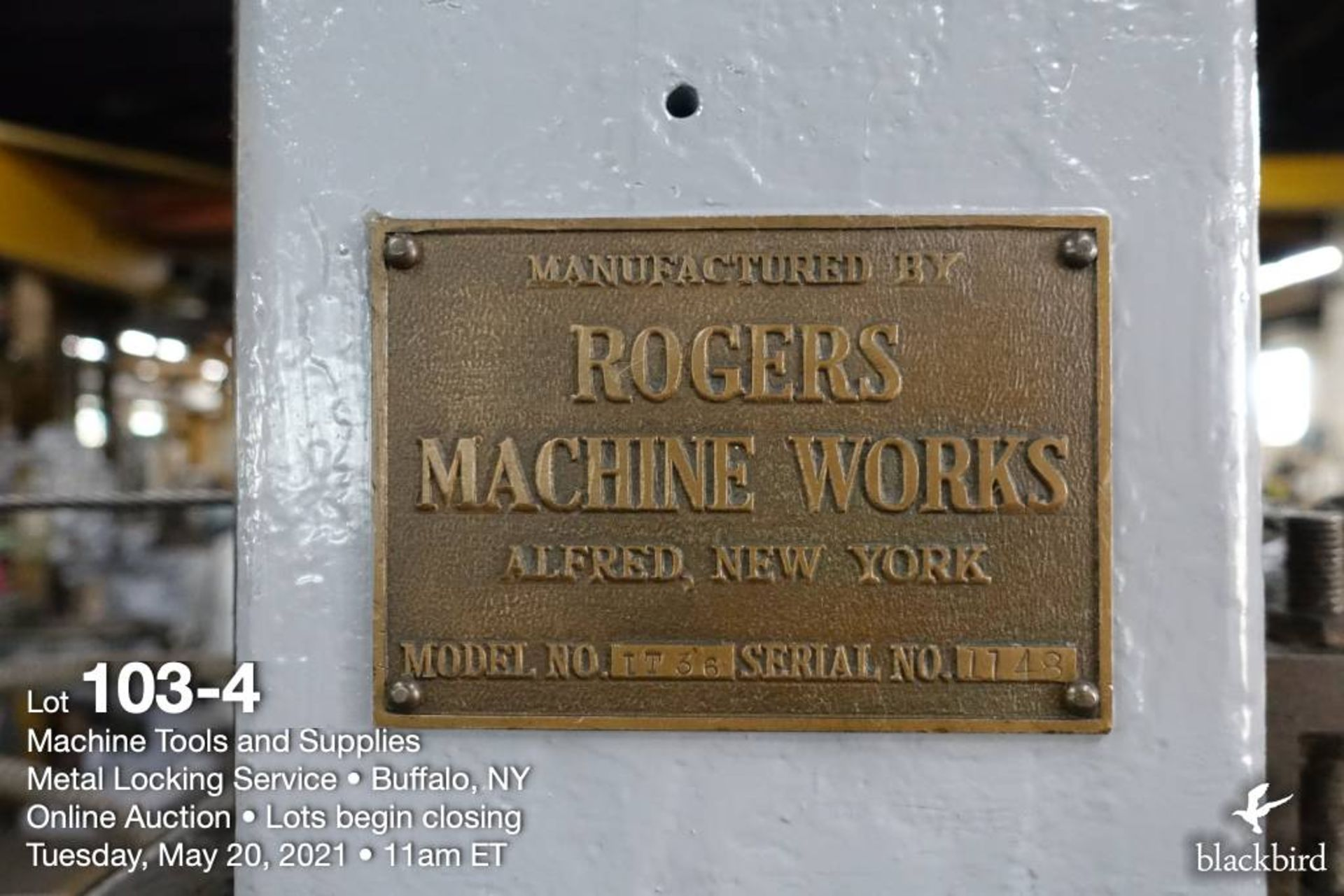 """Rogers IT 36, 36"""" vertical boring mill - Image 5 of 5"""