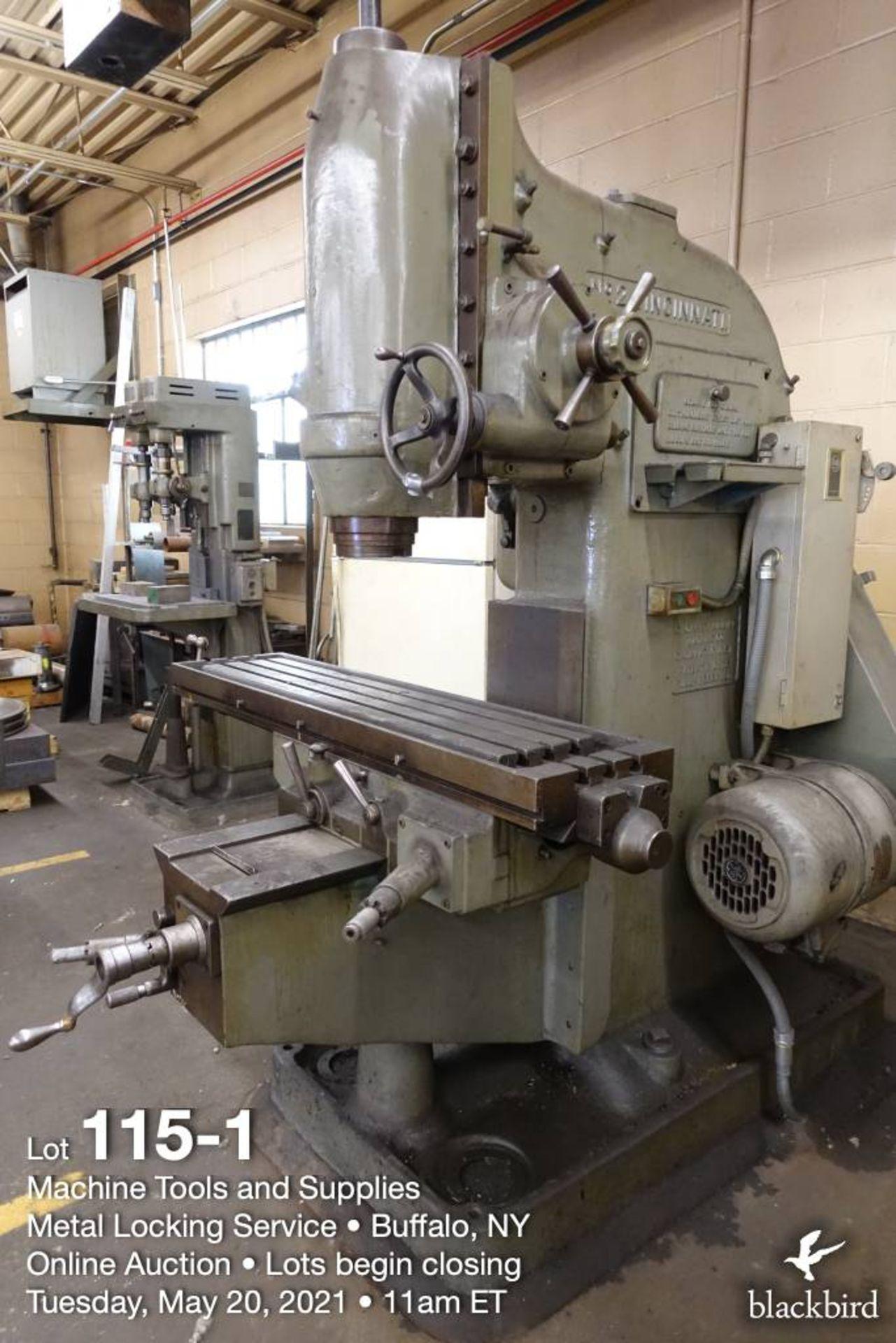 Cincinnati #2 knee type vertical milling machine - Image 2 of 4