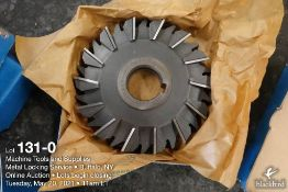 "F&D 6"" x 1"" milling cutter, 1 1/2"" arbor"