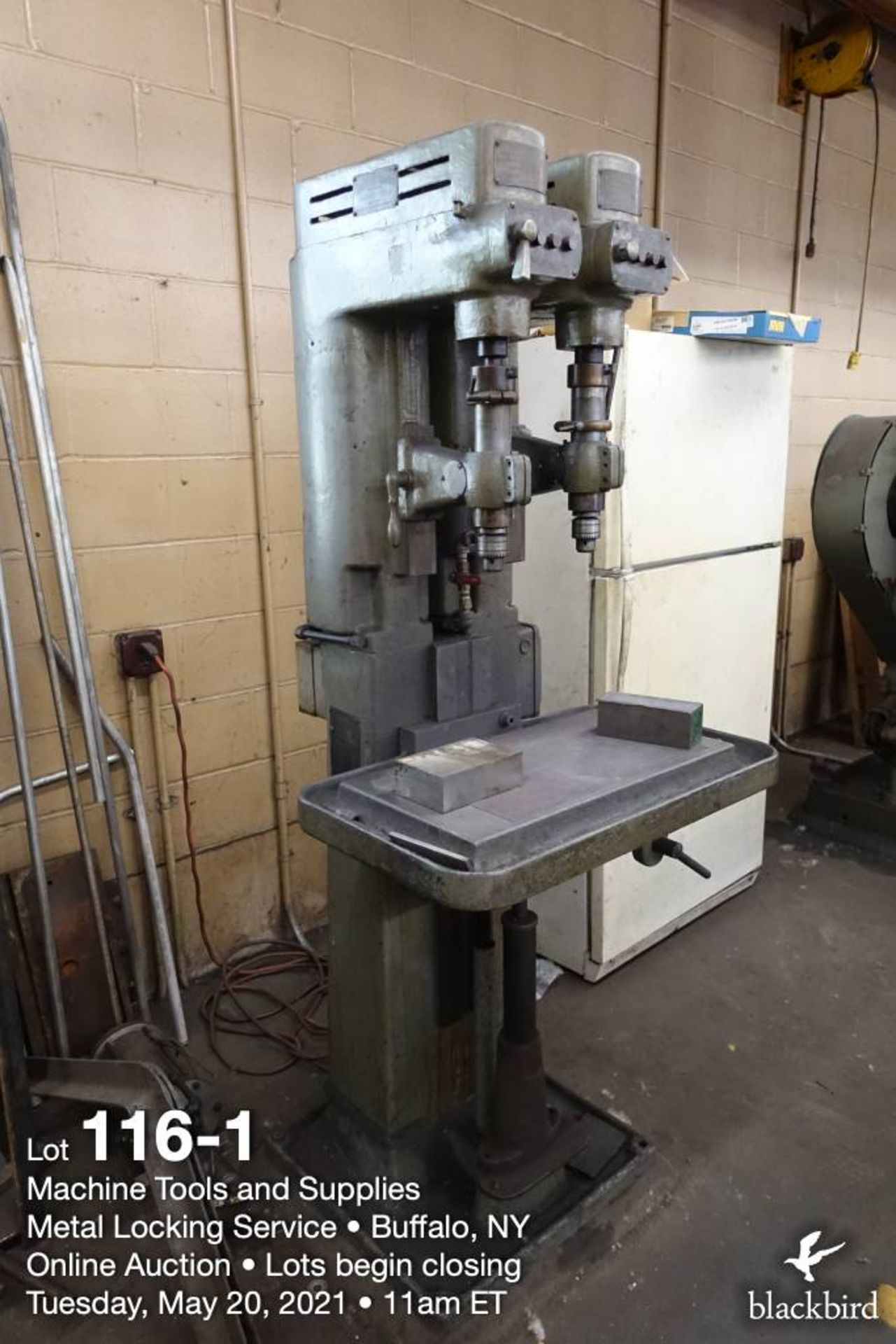Avey twin spindle drill press, M 1/2 heavy - Image 2 of 5