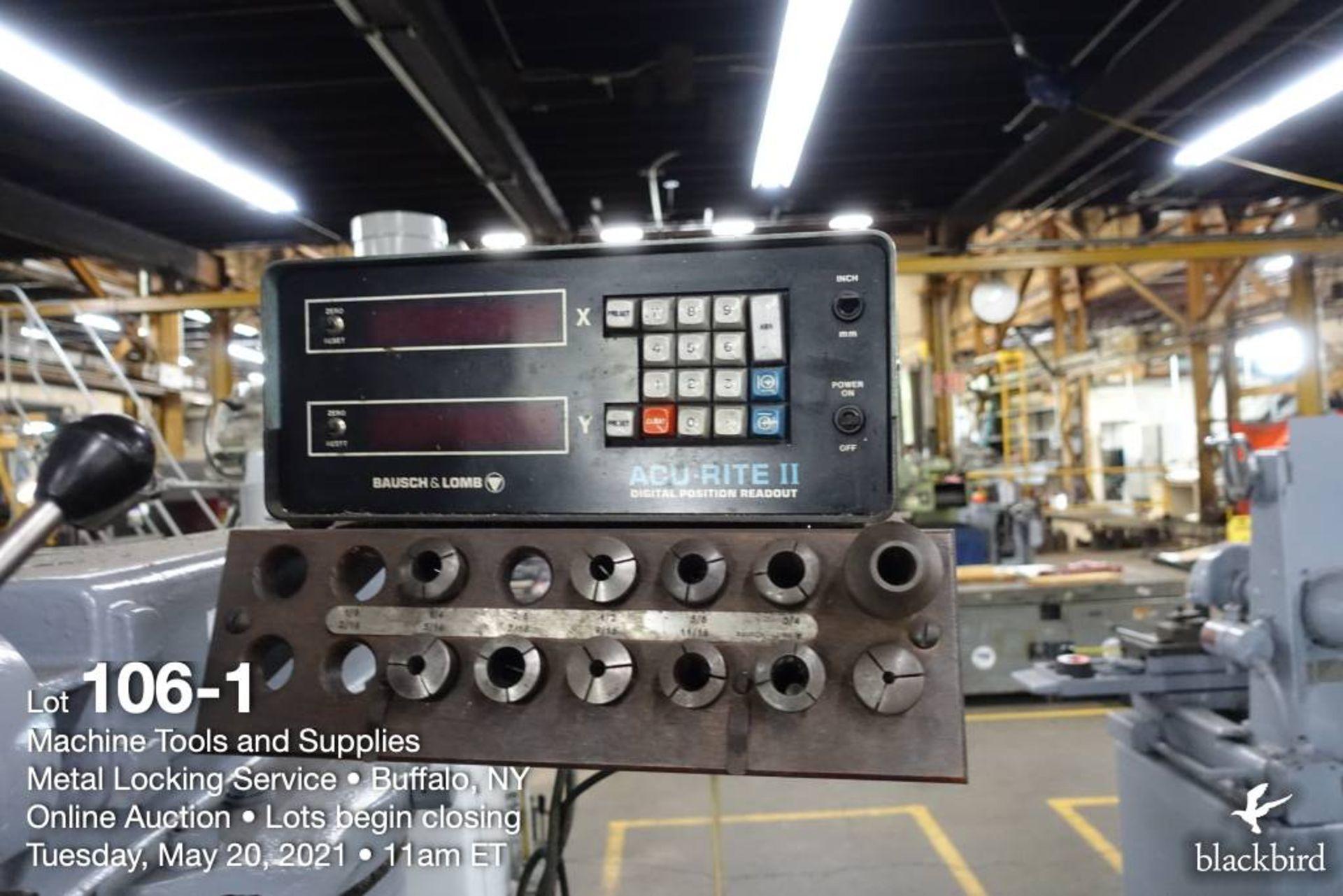 Wells Index 747 vertical milling machine, 1.5 HP - Image 2 of 5