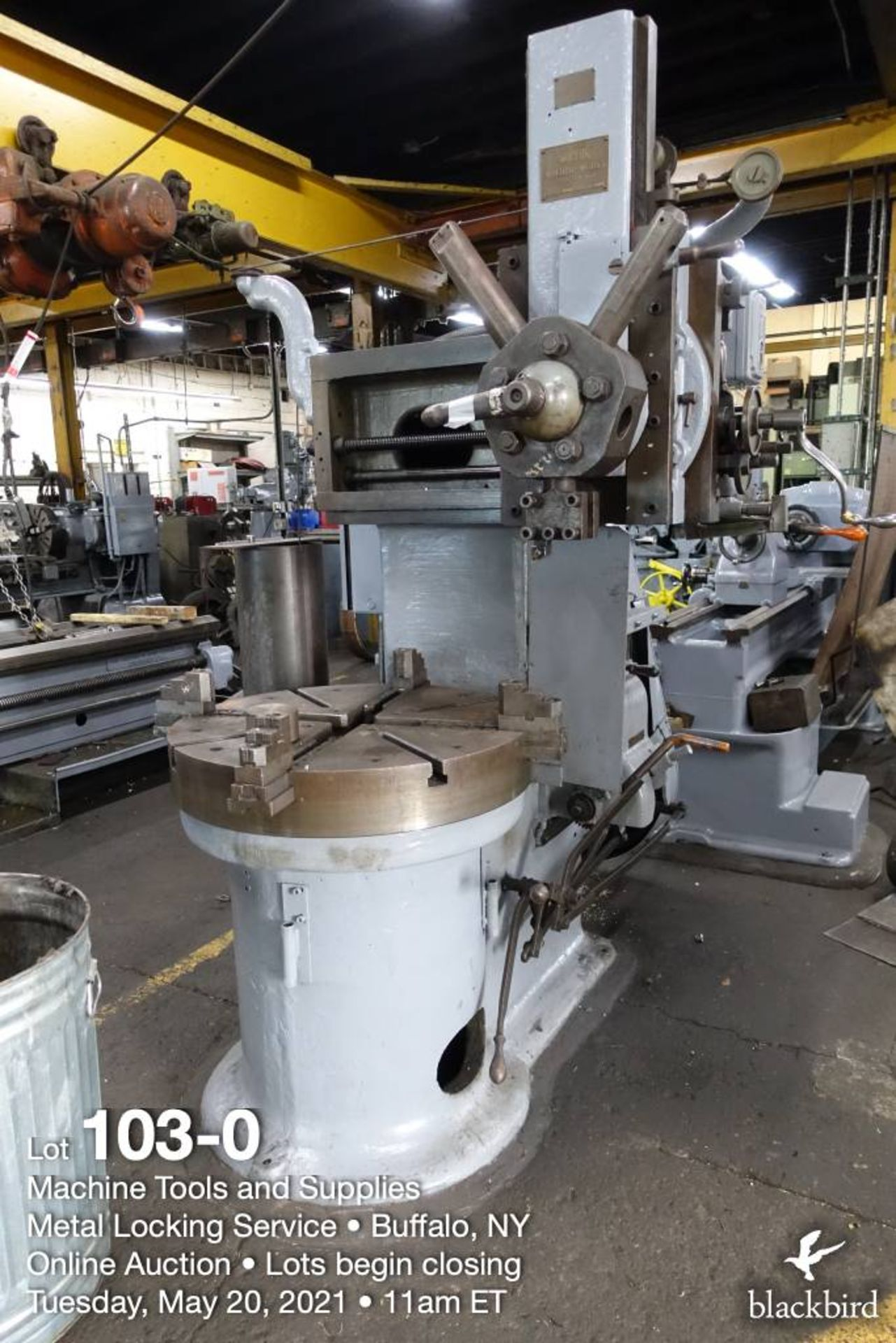 """Rogers IT 36, 36"""" vertical boring mill"""