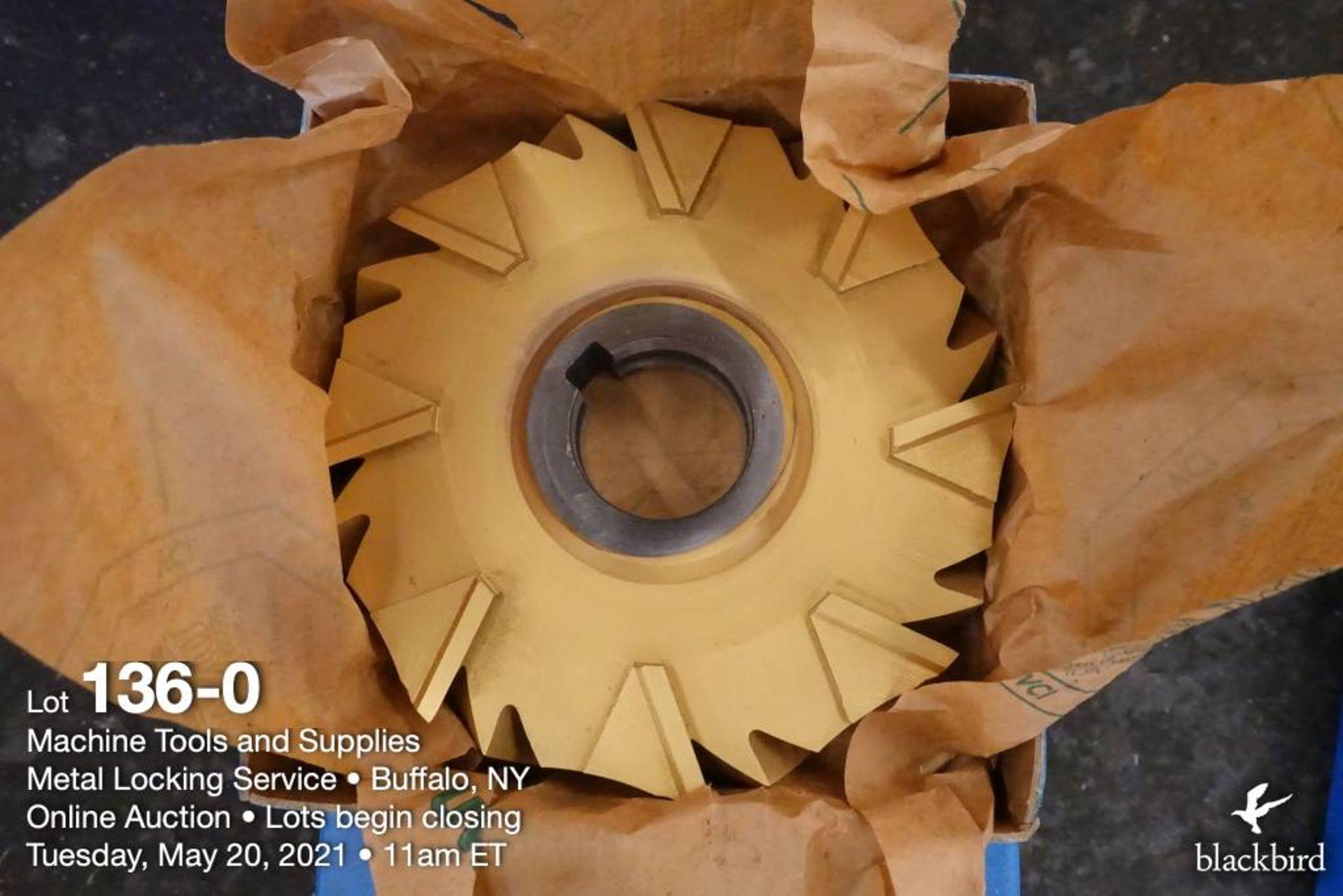 "F&D 6"" x 1"" cobalt milling cutter, 1 1/2"" arbor"