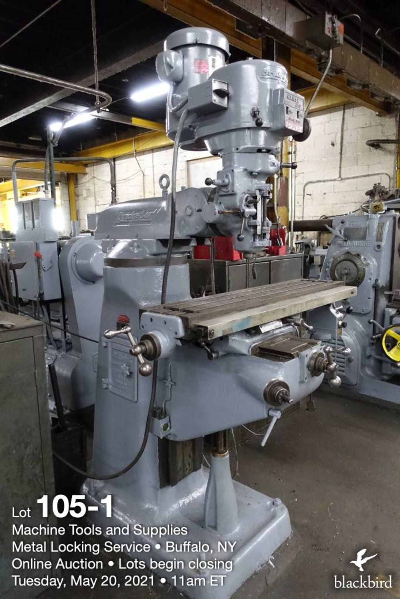 Bridgeport series I vertical milling machine - Image 2 of 6