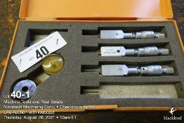 Lot of (3) Mitutoyo 368 Holtest Vernier inside micrometer
