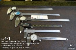 """Lot of (6) miscellaneous calipers, 6"""" - 12"""""""