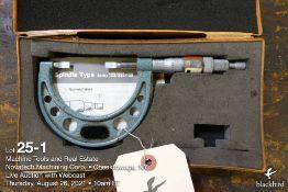 "Mitutoyo 1-2"" blade micrometer"