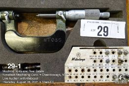 """Mitutoyo 1-2"""" pitch micrometer"""
