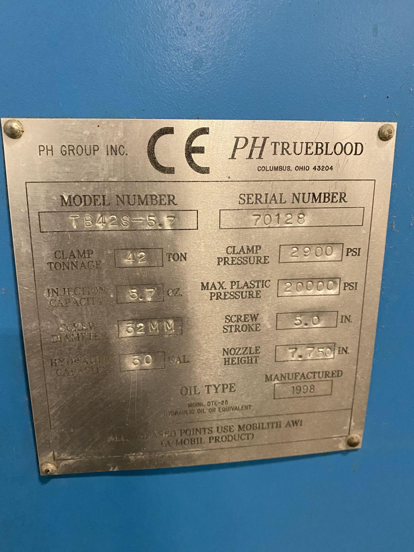 1998 PH Trueblood 42 Ton Plastic Injection Mold Machine - Image 13 of 13