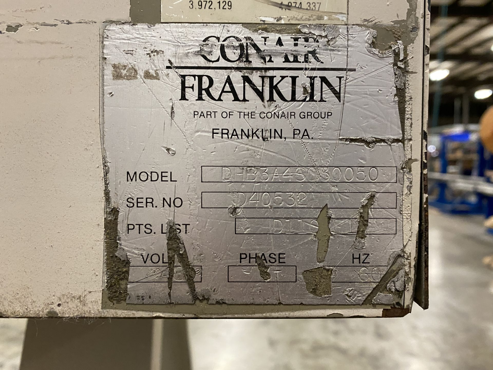 Conair Franklin DHB3A4S030050 Machine Mount Dryer - Image 7 of 8