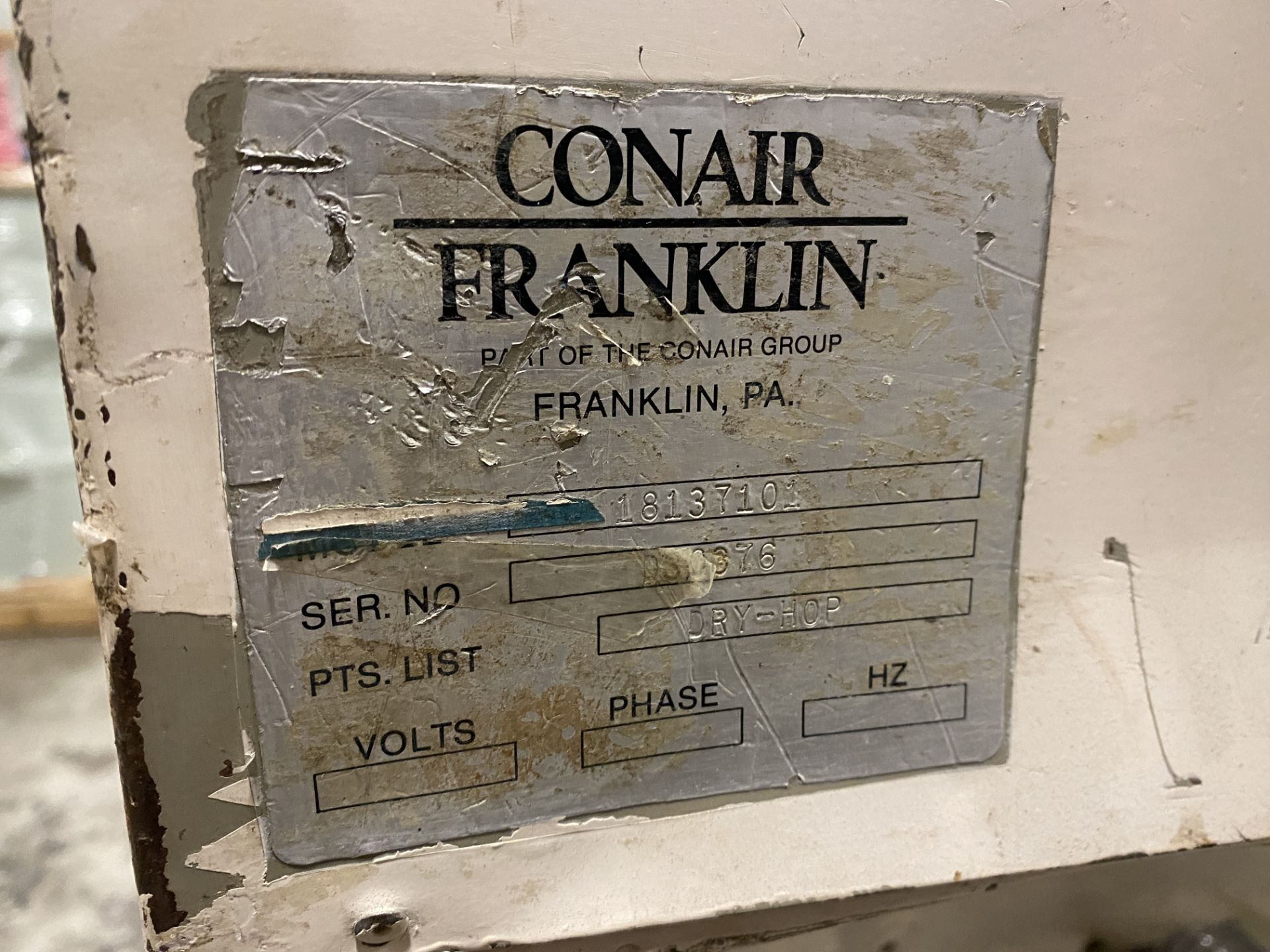 Conair Franklin DHB3A4S030050 Machine Mount Dryer - Image 8 of 8