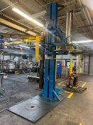 "Pneumatic Swing Arm Press, 41-1/4"" Dia, 14' 5"" OAH, w/ Valves & Cylinders"