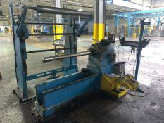 Dayco Spin Machine w/ Gear Reduction Motor Drive, & Material Rack