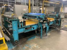 """69"""" x 12' Flat Belt Rubber Winding Machine, w/ Hyd Unit and Gear Drive, at end of Calender Line"""