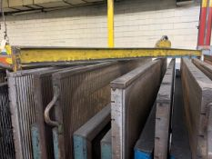 """90"""" Lifting Beam w/ Chains on each end for picking Plattens for COG Press"""