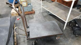 Low Profile Metal Cart w/Hydraulic Foot Jack