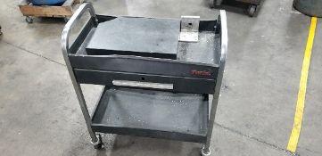 Metal Toller Cart w/Drawer and Granite Plate