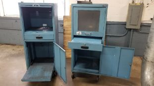 Lot of (2) Mobile Computer Cabinet