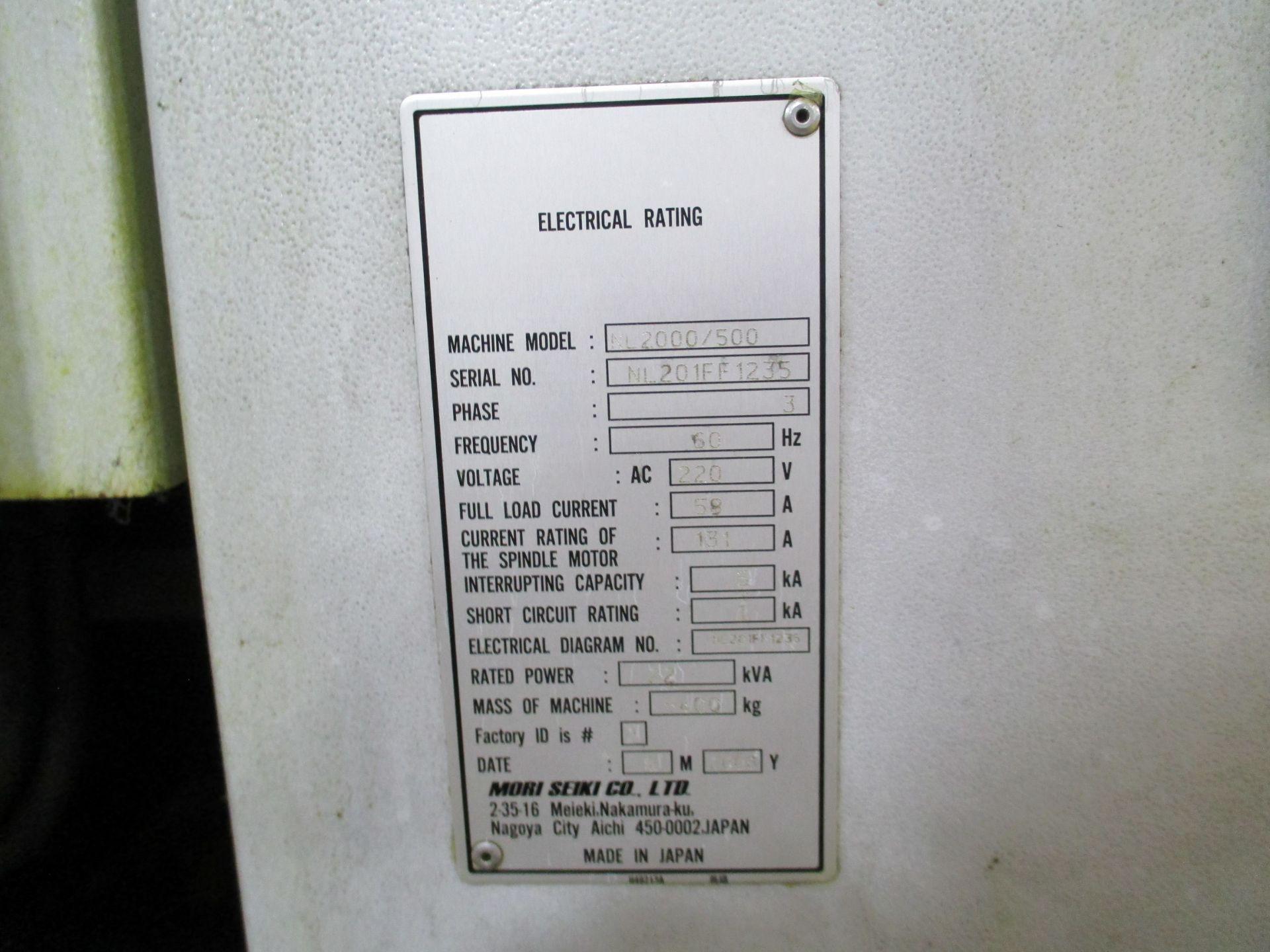 2008 Mori Seiki NL2000/500 CNC Turning Center - Image 8 of 8