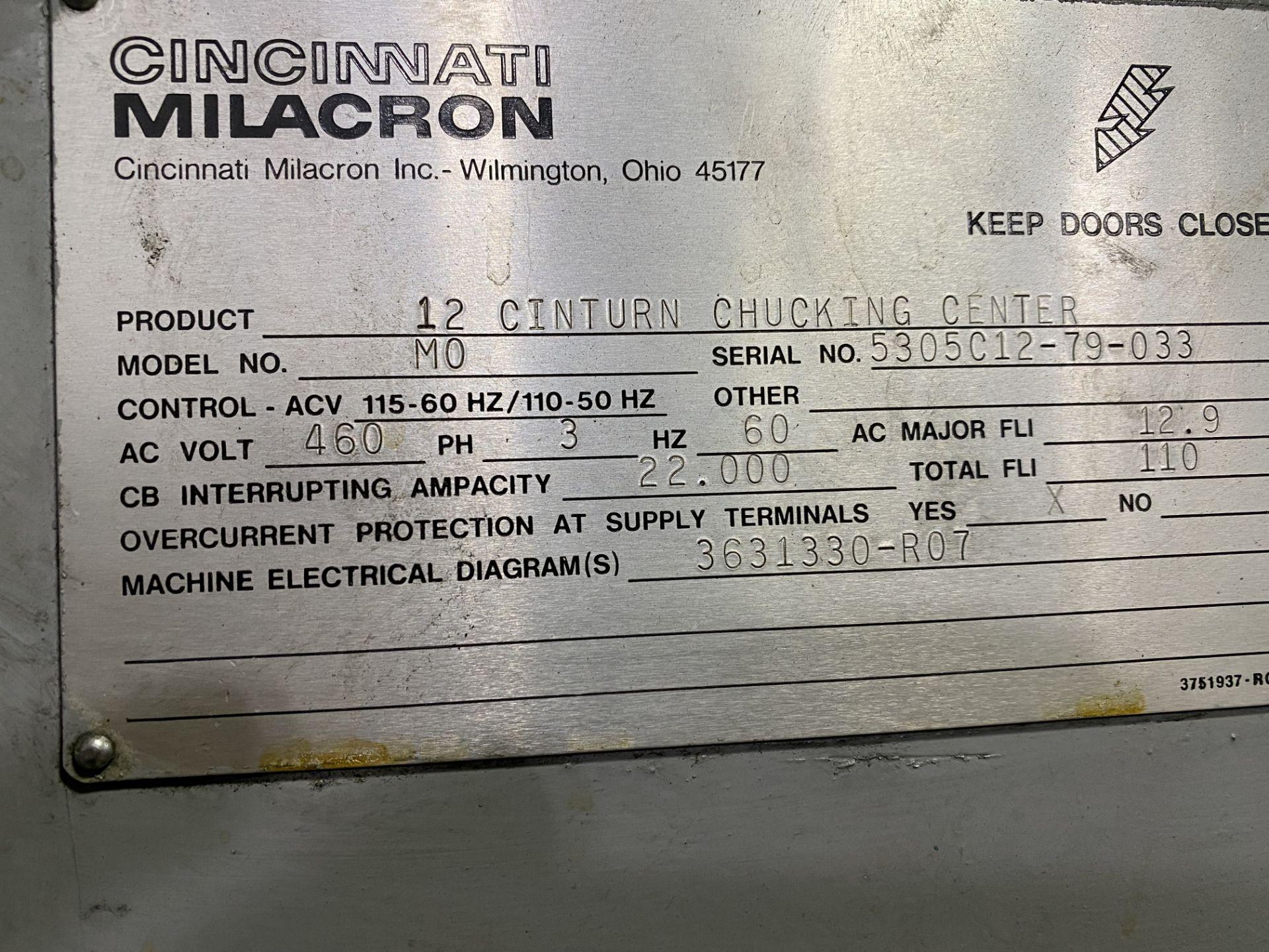 Cincinnati Cinturn 12 CNC Lathe w/ Fanuc Control RETROFIT ***PARTS MACHINE, NO CONTROLLER** - Image 8 of 8