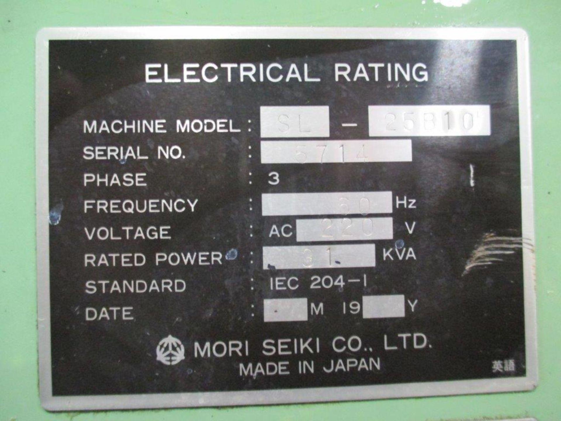 Mori Seiki SL-25B10 CNC Lathe - Image 8 of 8