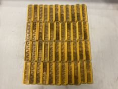 Lot of (217) New? Kennametal Carbide Inserts, P/N: TNG332