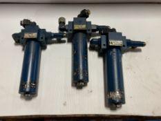 (3) Parker Hydraulic Filters, M/N: 15P2 10Q E3 50MM 1 95