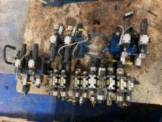 Lot of Misc Hydraulic Parker Valves/Blocks