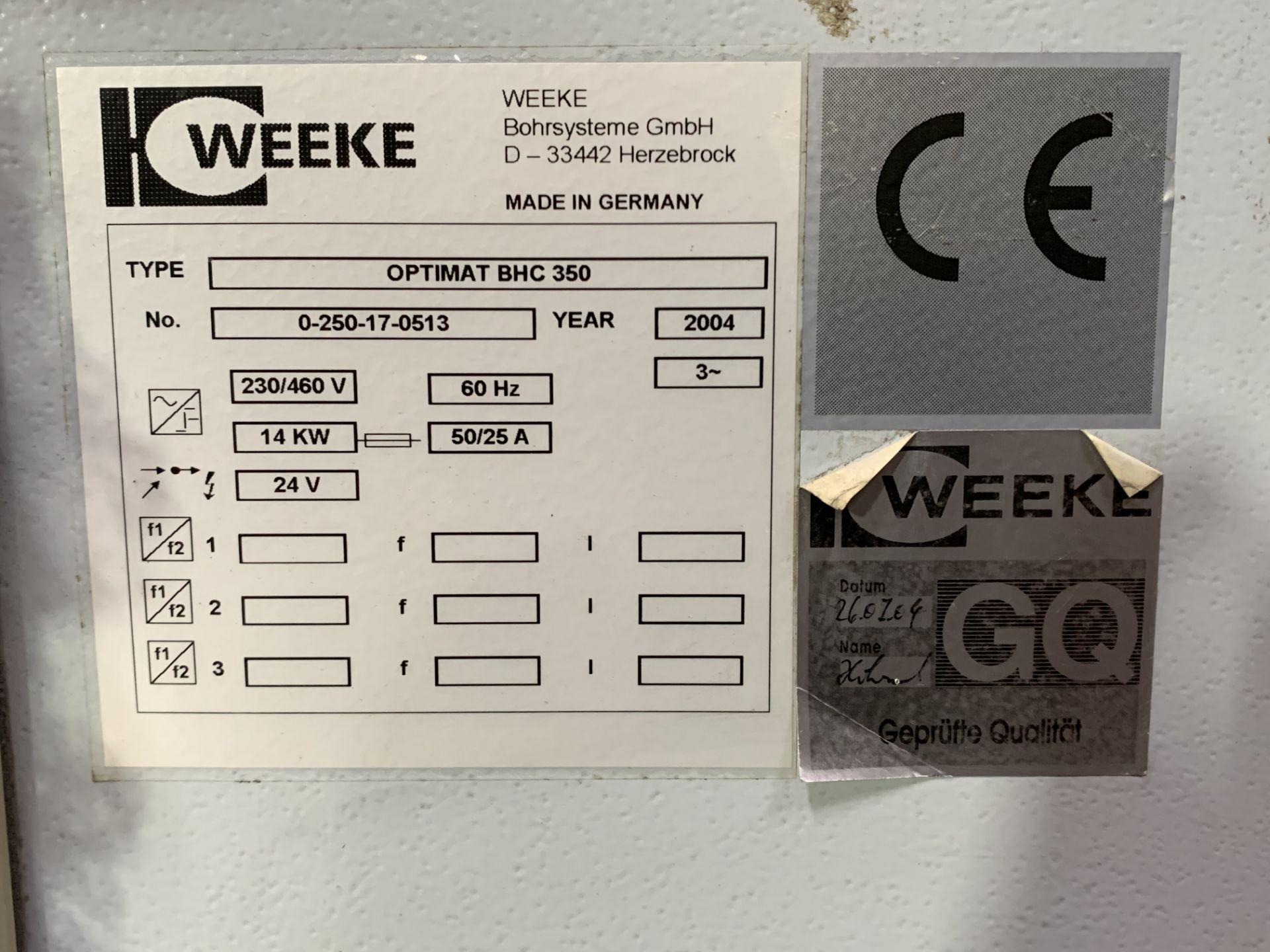 WEEKE BHC-350 Wood CNC MACHINING CENTER - Image 7 of 11