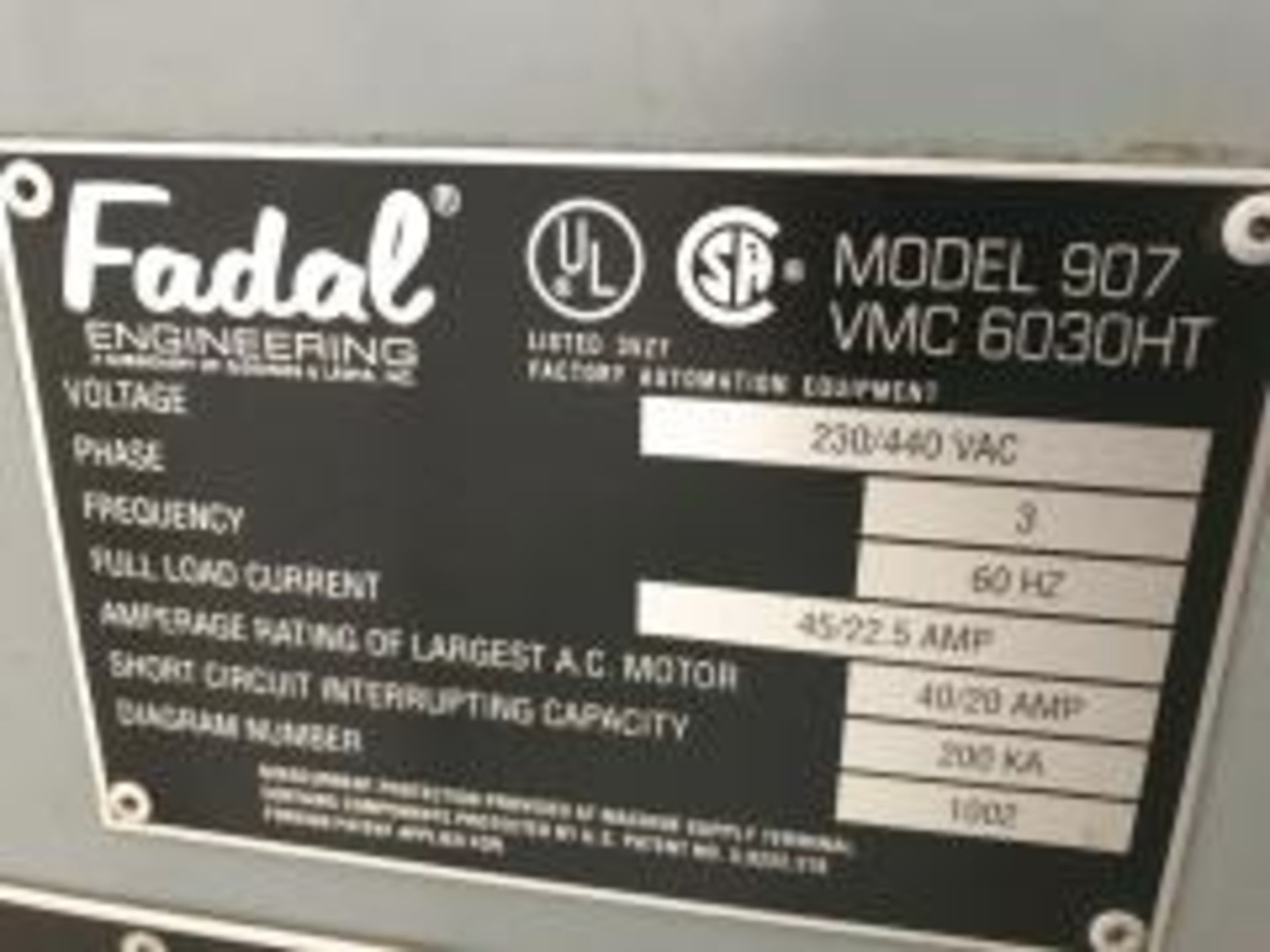 Fadal 6030 CNC Vertical Machining Center - Image 12 of 12