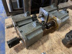 (4) Mitsubishi Permanent Magnet AC Servo Motors, P/N: HA100C