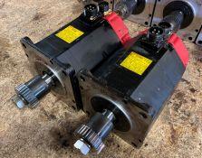 (2) Fanuc AC Servo Motors, M/N: a12/2000