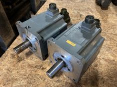 (2) Mitsubishi Permanent Magnet AC Servo Motors, P/N: HA100C