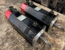 (2) Fanuc AC Servo Motors, M/N: 5S/3000