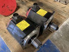 (2) Fanuc AC Servo Motors, M/N: ais 8/4000