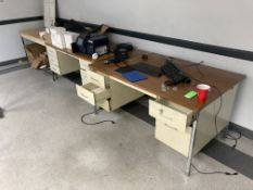 Lot of (3) Tables/Desks with Contents