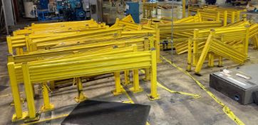 Large Lot of Misc Yellow Safety Rails/Guards