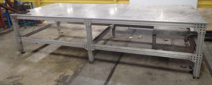 5' x 14' Aluminum Table w/ Vise +++