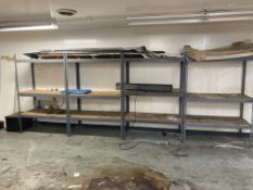 """(4) Sections of Shelving, 48"""" x 24"""" x 72"""""""